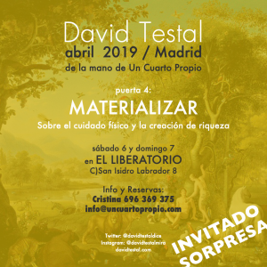 cartel materializar madrid